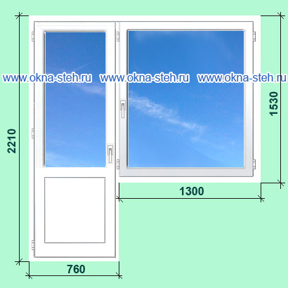 Цена пластиковых окон калева для домов серии ii-18. размеры .
