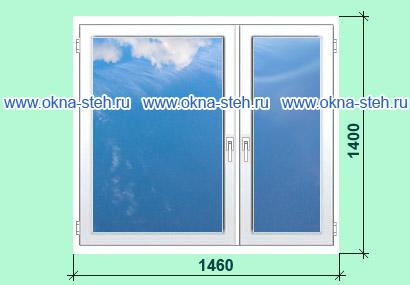 Цена пластиковых окон калева для домов серии п-43. размеры о.